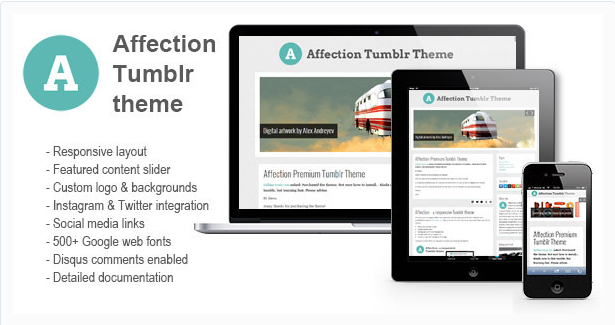 Affection Premium Tumblr Theme