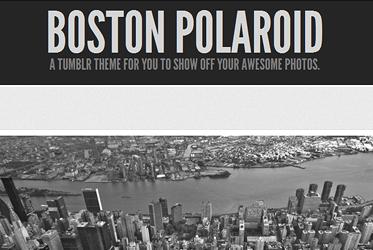 Boston Polaroid Theme For Tumblr