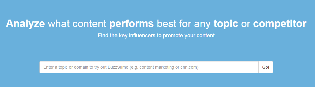 BuzzSumo Search Bar