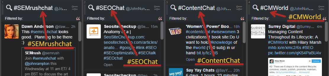 Twitter for SEO - Twitter Chats