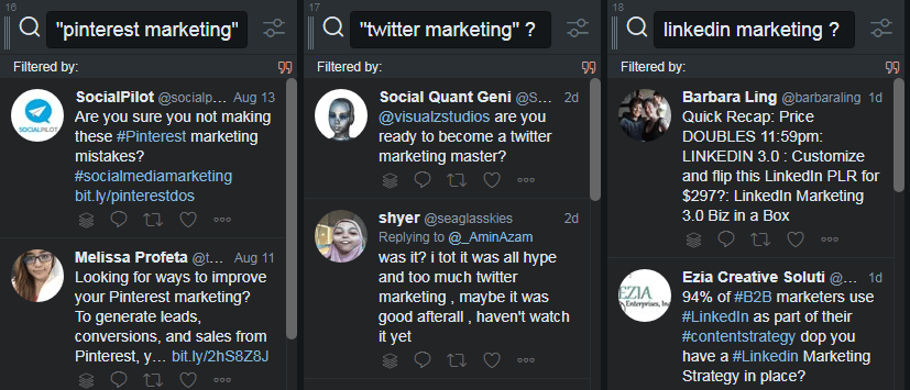 Twitter Marketing - Streams