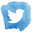 Twitter logo with a blue background