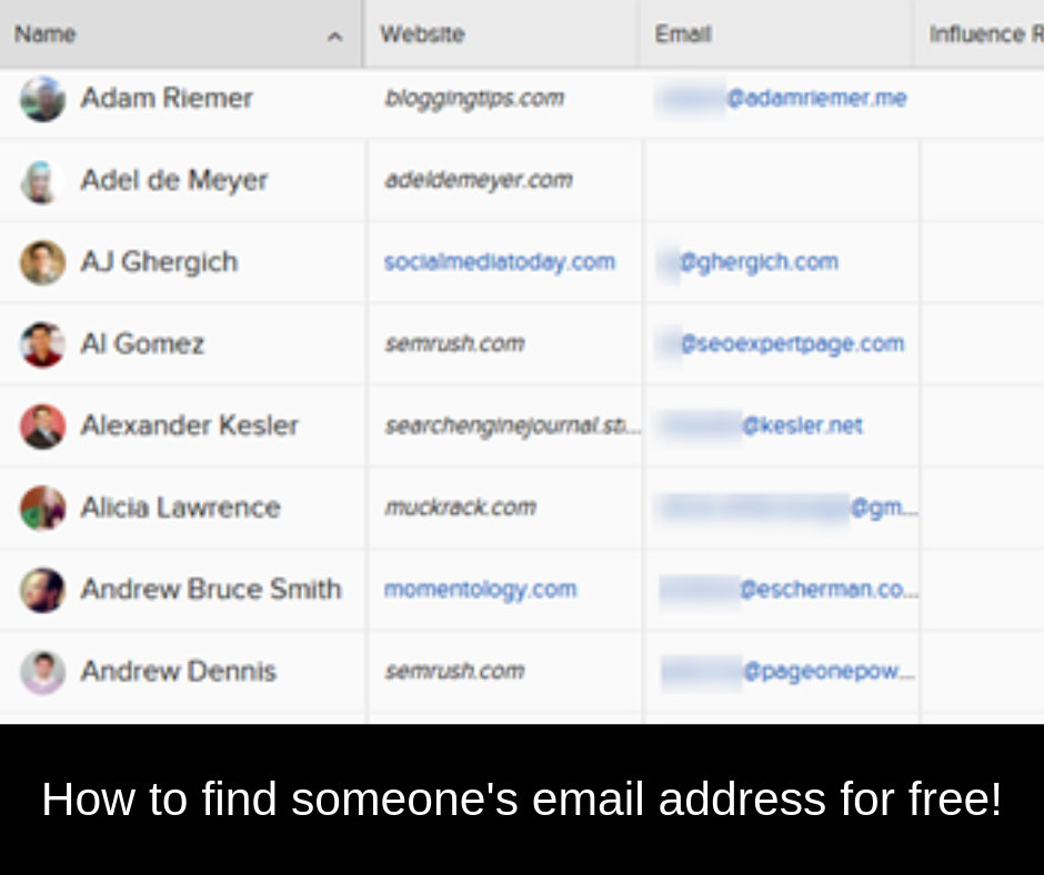 how to find someone s email address for free john s imsecrets