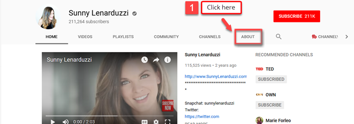 How to find someone's email on YouTube