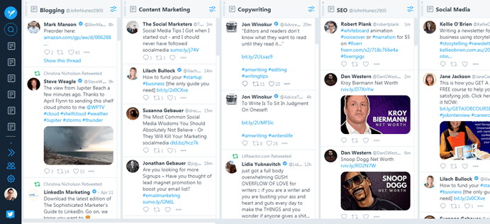 Twitter lists overview